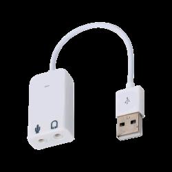 SAMM - كرت صوت USB مع مدخل مايكروفون للكمبيوتر و لراسبيري باي