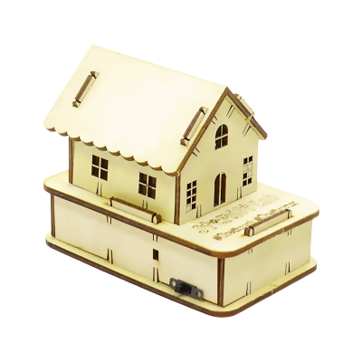 Wooden RGB House