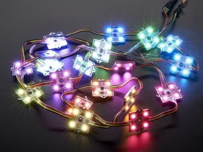 WS2801 36mm Kare 12V Digital RGB LED Pixel