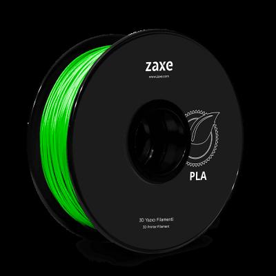 Zaxe Filament مادة طباعة 3D نوع PLA لون أخضر لامع